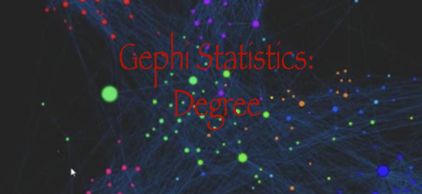 Gephi Statistics: Degree