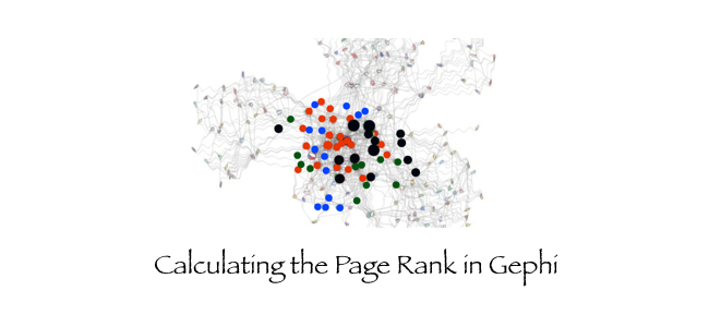 How a Page Rank is calculated in Gephi
