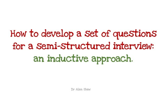 Interview questions, an inductive approach