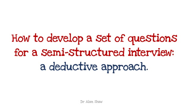 Developing Semi-Structured Interview Questions: A Deductive Approach